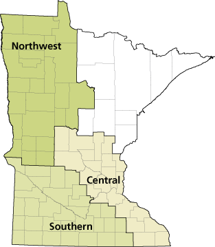 Native Prairie Bank Contacts Map.