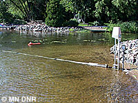 Photo of an automated aquatic plant control device.