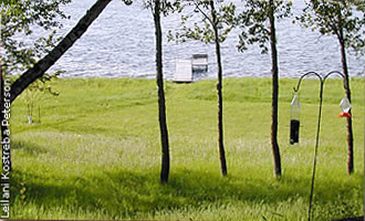 The Wagner property showing lawn down to the lakeshore