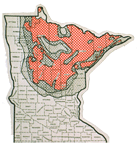 Forest tent caterpillars outbreak map 1952