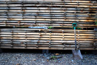 photo: Lumber created from saw log photo by Eli Sagor