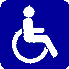 blue accessibility icon