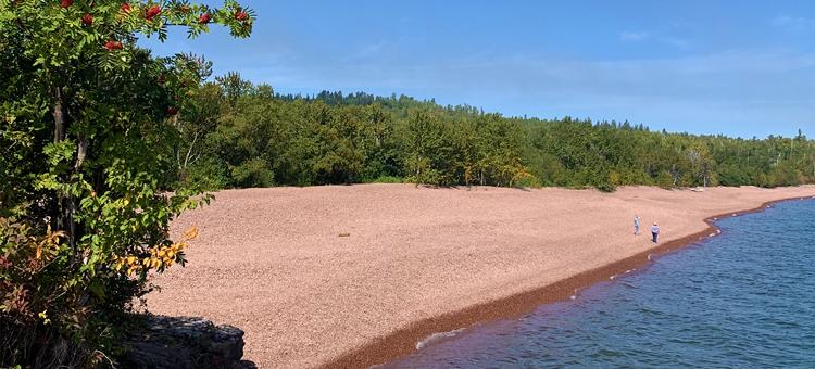 Beach and Lake Superior at Iona's Beach