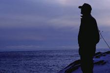 Steward overlooking lake