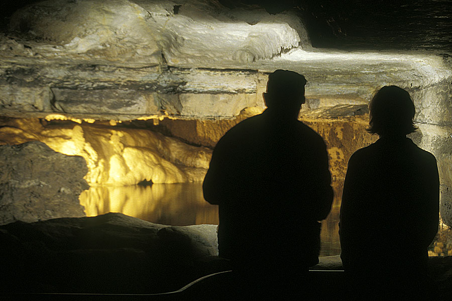 Photo: Mystery Cave Flashlight Tour.