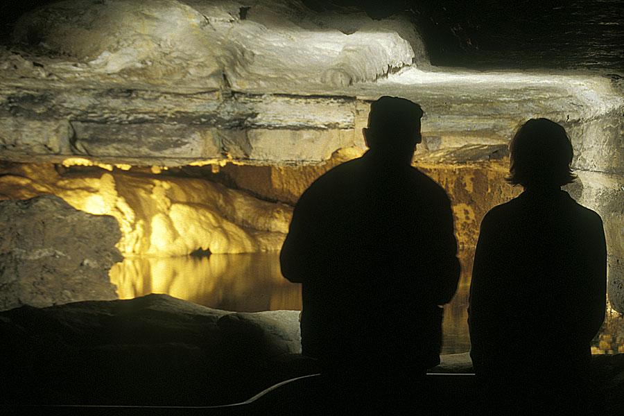 Photo: Mystery Cave Flashlight Tour.