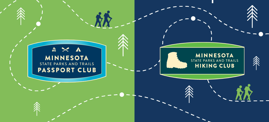 Hiking Club and Passport Club logos