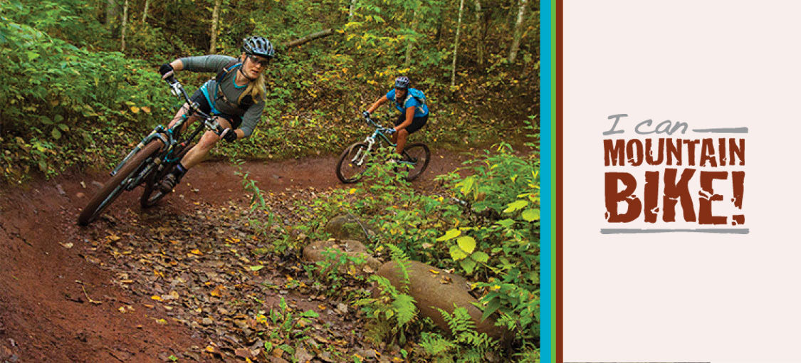 kids out mountain biking at Cuyuna State Park