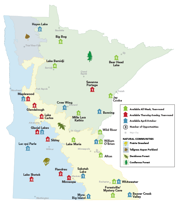 camper cabin locations in minnesota