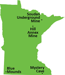 State park tour locations