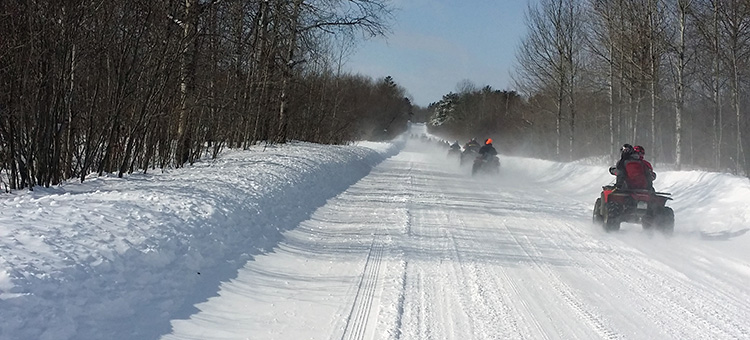 OHV riders in teh snow