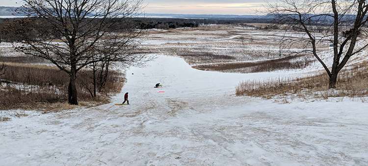 sledding hill in a Minnesota state park
