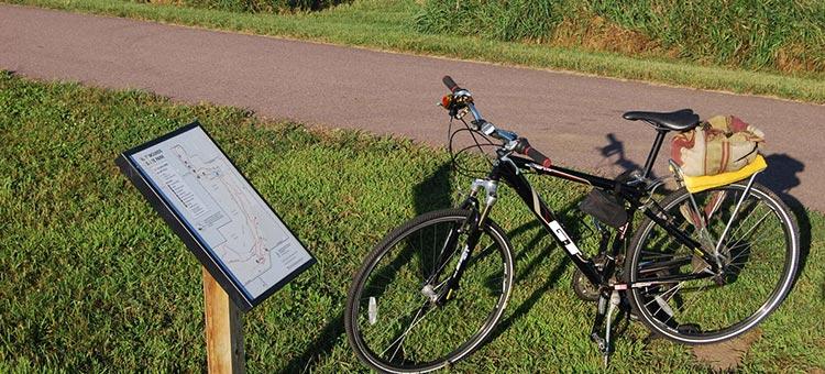 bike on a state trail