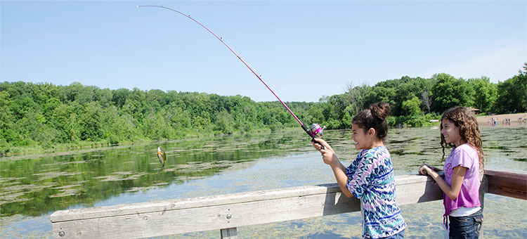 People fishing in Minnesota State Parks and Trails.
