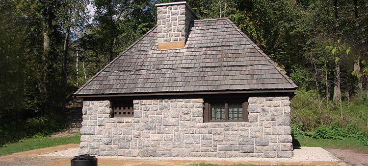 Photo of the Flandrau State Park CCC cabin