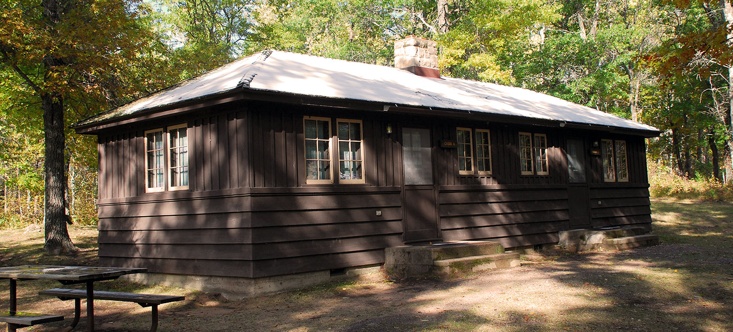 Photo of Cabin A at St. Croix State Park