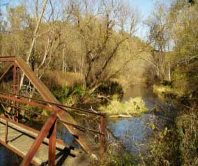Photo of a bridge spanning Beaver Creek.