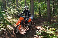 OHV rider in a helmet