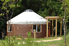 yurt exterior in summer