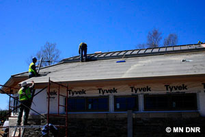 Installing the metal roof