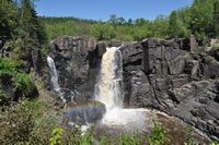 high falls and rainbow