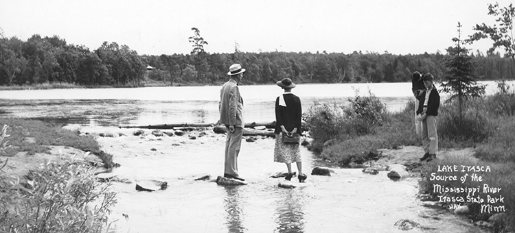 Circa 1935 - Lake Itasca, Source of the Mississippi River, Itasca State Park, Minn.