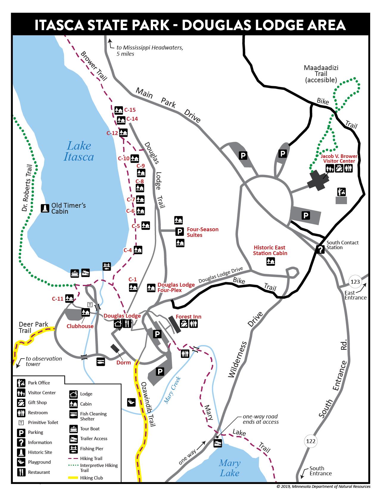 Douglas Lodge Map