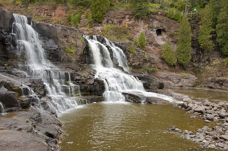 Gooseberry Falls State Park State features a series of falls to enjoy.