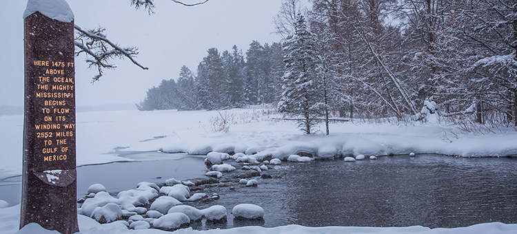 Itasca Headwaters in winter