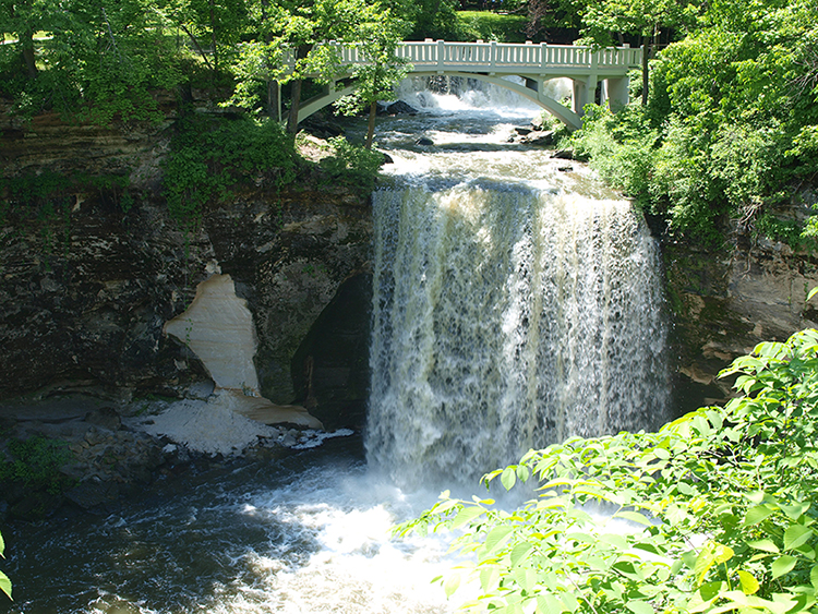 Minneopa State Park waterfall.