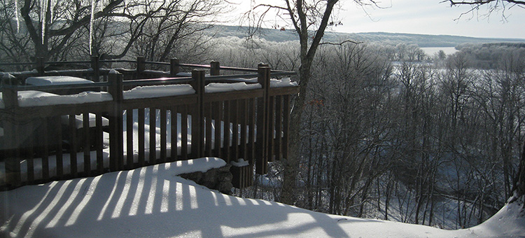 Wild River lookout in winter