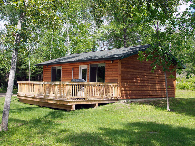 Photo of the La Salle Lake State Recreation Area Lone Wolf cabin