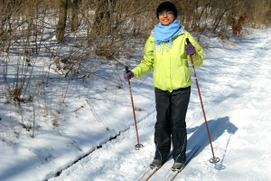 Photo of a ski trail in the state park.