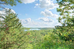 Photo of the view from Afton State Park's 'honeymoon cabin' site.