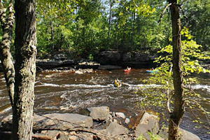 Photo of the beautiful views of the Kettle River carving its way through sandstone bedrock.