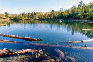 Photo of the secluded and rugged Cub Lake.