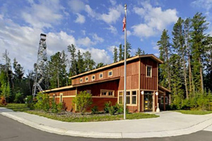 Photo of the visitor center and office.
