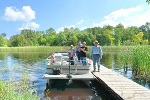 Photo of a boat launch that provides access to the Tamarac River.