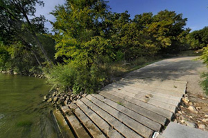 Photo of the boat launch located in the Bonanza area of the park.
