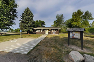 Photo of the park office located in the Meadowbrook Area.