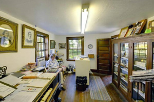 Photo of the Sam Brown Museum interior operated by the Browns Valley Historical Society.
