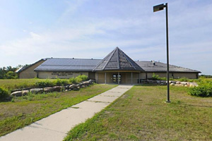 Photo of the Minnesota State University Moorhead Regional Science Center which borders the state park boundary which offers educational opportunities for visitors.