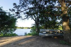 Photo of the Brawner Lake boat access near the park's picnic area.