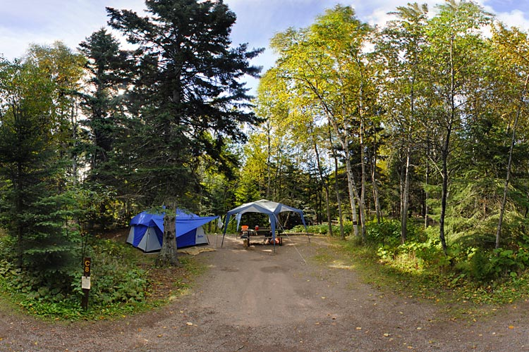 Photo of the park campground, which is open year-round.