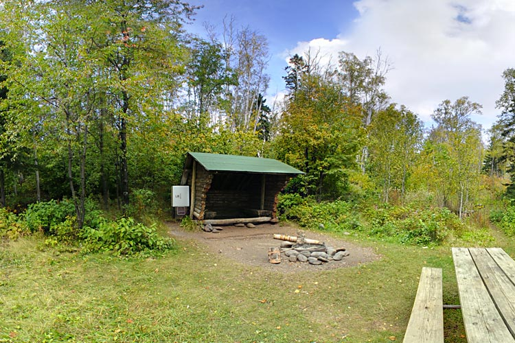 Photo of one of the backpack sites on the lake, which is a very popular campsite!