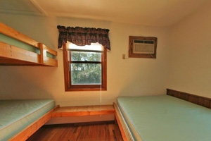 Photo of the farm house bedroom.