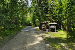 Photo of the Franz Jevne State Park entrance.