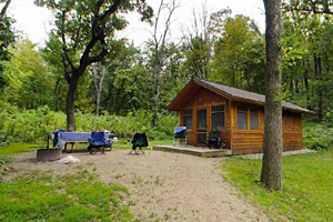 Photo of one of the four year-round cabins available in the park.