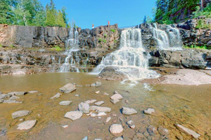 Photo of the Middle Falls at Gooseberry Falls State Park.