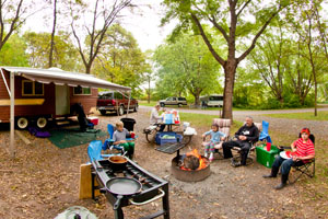 Photo of campers enjoying one of the 37 campsites available in the park.